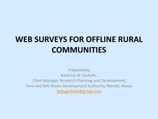WEB SURVEYS FOR OFFLINE RURAL COMMUNITIES