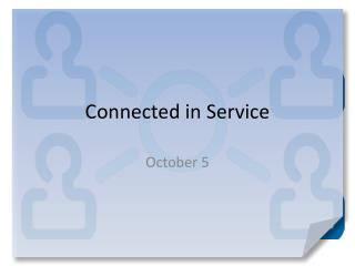 Connected in Service