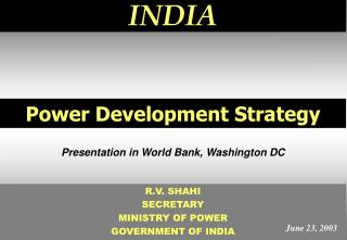 Power Development Strategy