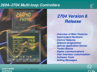 2604–2704 Multi-loop Controllers