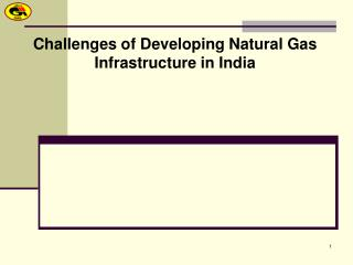 Challenges of Developing Natural Gas Infrastructure in India