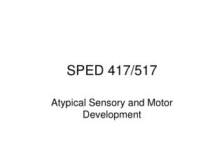 SPED 417/517