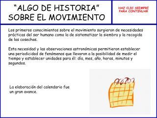 """""""ALGO DE HISTORIA"""" SOBRE EL MOVIMIENTO"""