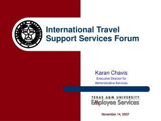 International Travel Support Services Forum