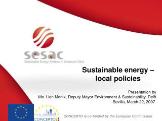 Sustainable energy –  local policies