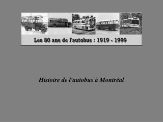 Histoire de l'autobus à Montréal