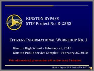 KINSTON BYPASS STIP Project No. R-2553