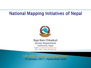 National Mapping Initiatives of Nepal