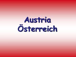 Austria �sterreich