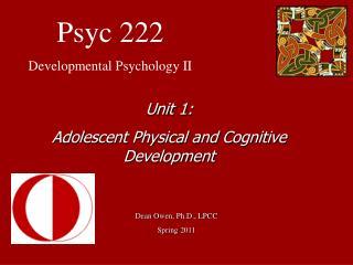 Psyc 222 Developmental Psychology II