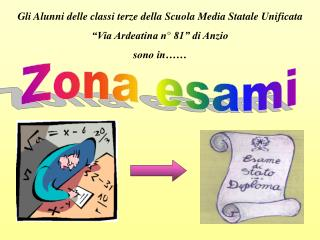 """Gli Alunni delle classi terze della Scuola Media Statale Unificata  """"Via Ardeatina n° 81"""" di Anzio"""