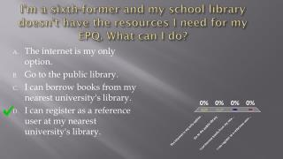 The internet is my only option. Go to the public library.