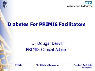 Diabetes For PRIMIS Facilitators