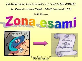 Gli Alunni delle classi terze dell' i. c. 3° CASTALDI RODARI