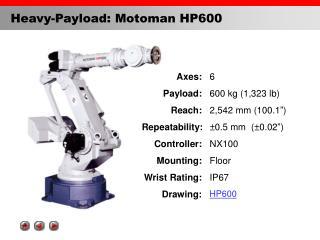 Heavy-Payload: Motoman HP600