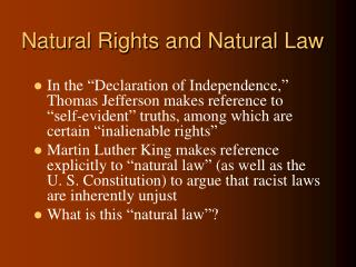 Natural Rights and Natural Law