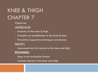 Knee & Thigh Chapter 7