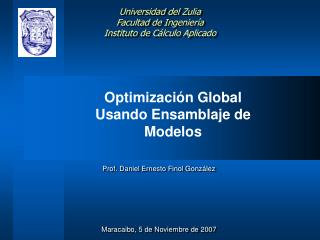 Optimizaci�n Global Usando Ensamblaje de Modelos