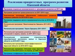 Программа социально-экономического и  культурного развития на 2011 год