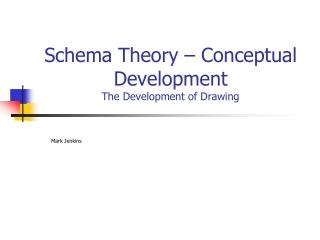 Schema Theory – Conceptual Development  The Development of Drawing