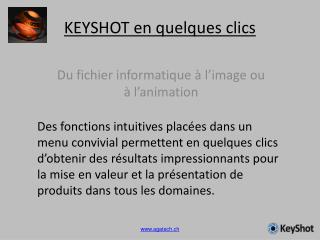 KEYSHOT en quelques clics
