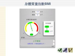 身體質量指數 BMI