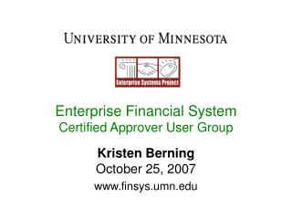 Enterprise Financial System