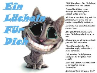 Weißt Du schon... Ein Lächeln ist ansteckend wie eine Grippe.