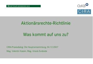 Aktionärsrechte-Richtlinie Was kommt auf uns zu?