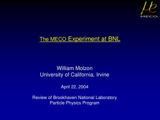 The MECO  Experiment at BNL