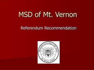 MSD of Mt. Vernon