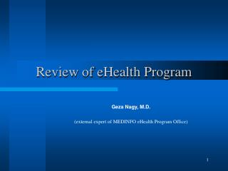 Review of eHealth Program