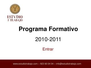 Programa Formativo  2010-2011