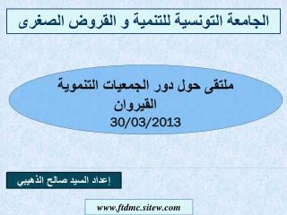 الجامعة التونسية للتنمية و القروض الصغرى