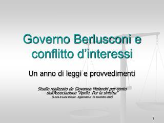 Governo Berlusconi e conflitto d�interessi