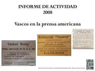 Vascos en la prensa americana - Euskaldunak Ameriketako prentsan - Basques in American press