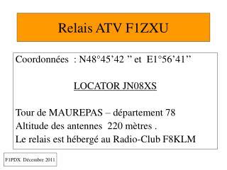 Relais ATV F1ZXU