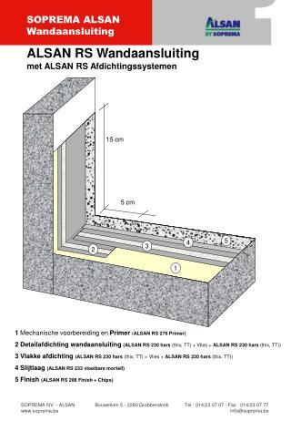 1  Mechanische voorbereiding en  Primer ( ALSAN RS 276 Primer)