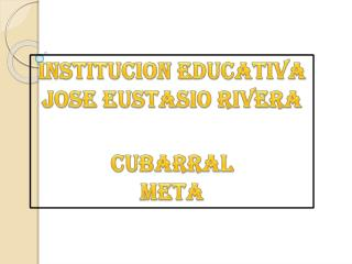 INSTITUCION EDUCATIVA JOSE EUSTASIO RIVERA CUBARRAL META