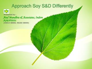 Approach Soy S&D Differently
