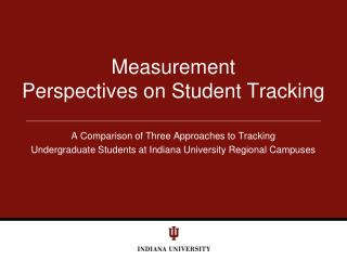 Measurement  Perspectives on Student Tracking