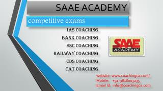 CAT, Bank PO, SSC Coaching in Gurgaon