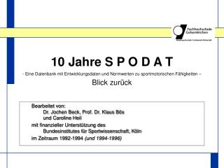 Bearbeitet von: Dr. Jochen Beck, Prof. Dr. Klaus Bös und Caroline Heil