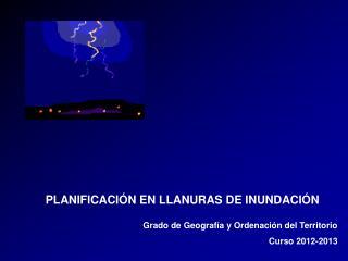 PLANIFICACIÓN EN LLANURAS DE INUNDACIÓN