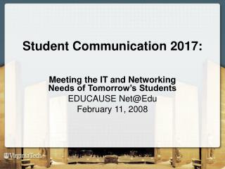 Student Communication 2017: