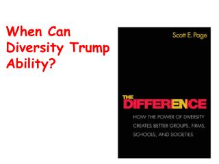 When Can  Diversity Trump Ability?