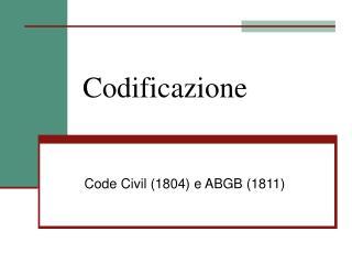 Codificazione