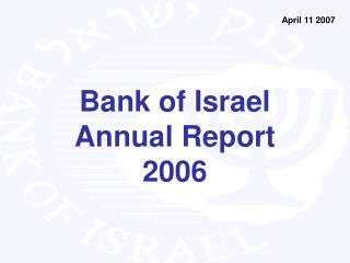 Bank of  Israel  Annual Report 2006