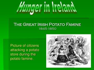 The Great Irish Potato Famine 1845-1850
