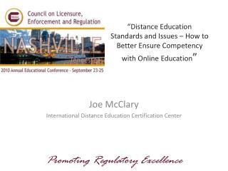 Joe McClary International Distance Education Certification Center